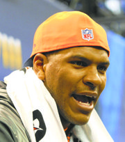 Denver tight end Julius Thomas received a lot of attention.