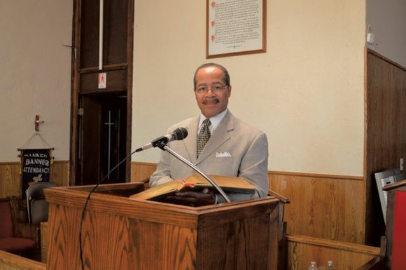 A new face is preaching from behind the pulpit at New Shady Grove Missionary Baptist Church on Manchester Avenue in ...