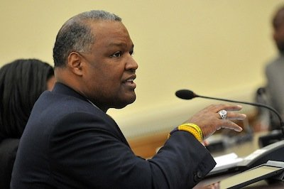 Prince George's County Executive Rushern L. Baker III is prepping a rollout of his proposed fiscal 2015 budget during a ...