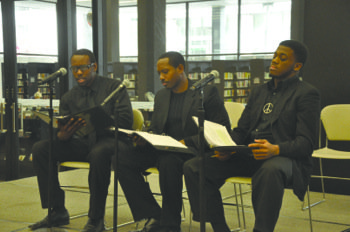 During a question and answer session of a dramatic reading marking the beginning of Black History Month, one of the ...