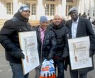 Rally for Central Park Five outside of City Hall