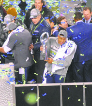 Seattle outside linebacker Malcolm Smith was named the 2014 Super Bowl Most Valuable Player