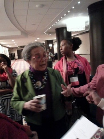 "Dr. Marian Wright Edelman speaks to members of the Delta Sigma Theta Sorority, Inc. at a recent legislative conference following her remarks about child poverty in the U.S. and the Children's Defense Fund's latest report, ""The State of America's Children 2014."""
