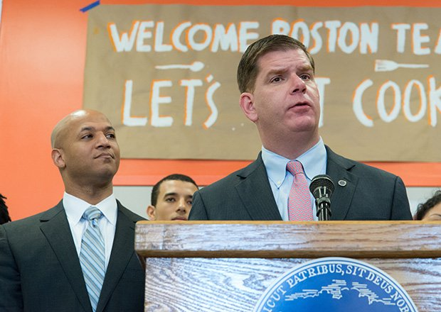 Boston Mayor Marty Walsh today named John Barros, a former mayoral candidate as Chief of the Economic Development — including overseeing the Boston Redevelopment Authority.  Barros was the first-ever youth elected to the Dudley Street Neighborhood Initiative (DSNI) Board of Directors.  As a freshman at Dartmouth College in New Hampshire, Barros continued to speak up for the needs of young people in Roxbury and Dorchester