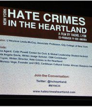 """Hate Crimes in the Heartland"" panel discussion and question-and-answer session was held at City College Center for the Arts."