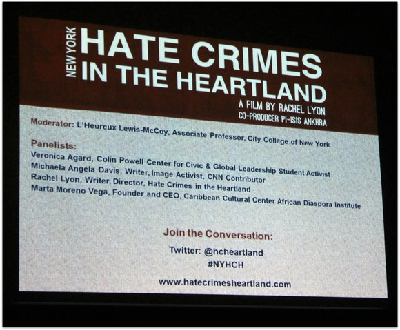 "City College Center for the Arts hosts a viewing of the documentary ""Hate Crimes in the Heartland,"" about two hate ..."
