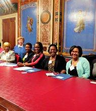 Sen. Barbara Mikulski (D-Md.) met with members of the National Black Nurses Association
