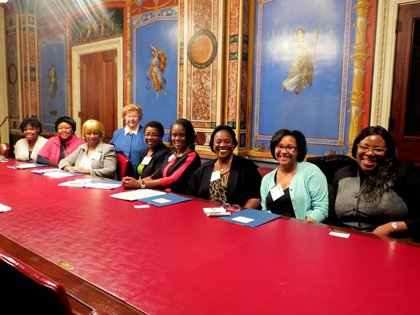 Sen. Barbara Mikulski (D-Md.) met with members of the National Black Nurses Association