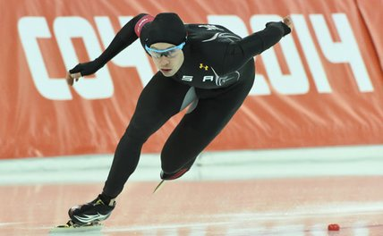 Garcia finished in 28th place in the men's 1,000-meter speed skating competition on Wednesday at the Winter Olympics in Soch