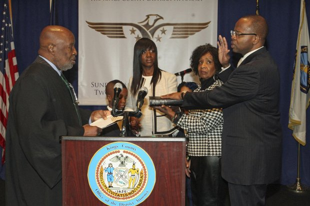 Brooklyn DA Ken Thompson sworn in