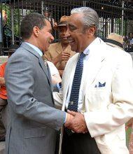 Rep. Charles Rangel and former Gov. David Paterson