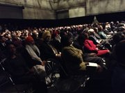 Packed audience at the inaugaration of new District Attorney Ken Thompson