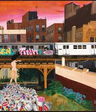"Lady Pink, ""The Death of Graffiti,"" 1982. Acrylic on masonite. Museum of the City of New York, gift of Martin Wong."