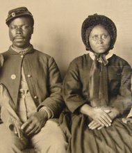 """Faces of Freedom: The Upper Chesapeake, Maryland, and Beyond,""hosted by Hays-Heighe House commemorates the 150th anniversary of the adoption of the Maryland Constitution of 1864, which ended slavery in the state. The project will focus on freedom, slavery and emancipation before, during and after the Civil War. ""Faces of Freedom "" opens Wednesday, February 19, 2014 and runs through Saturday, May 10, 2014 at the Hays-Heighe House at Harford Community College located at 401 Thomas Run Road in Bel Air, Maryland. Photo: An unknown family was found in Cecil County. The man in the photo was a member of the U.S. Colored Troops."