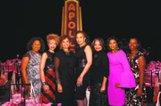 Dining with the Divas Committee members Michelle Gadsden-Williams, Jacqueline Nickelberry and Yolanda Ferrell-Brown with Divas host Tamara Tunie, Apollo President and CEO Jonelle Procope and committee members Carolyn Mason and Michelle Adkins