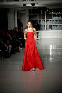 New York designer Edwing D'Angelo presented a fabulous fall collection filled with many ways to wear red for men and ...