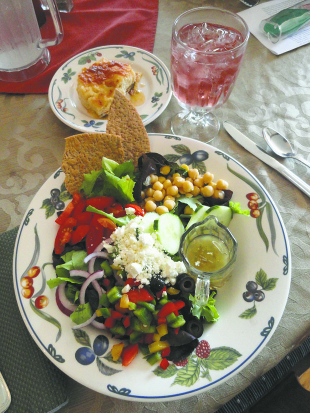 This Greek Salad was just one of the amazing gastronomic lunch meals created by Chef Tasso