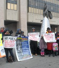 Rally at the Harlem State Office Building plaza against the Michael Dunn verdict