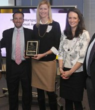 Secretary Skinner presented the Maryland Mortgage Program's 2013 Top Lender Award to Ryan Paquin, Heidi Ford, Andrea Trout and Drew Gilmartin of first place winner First Home Mortgage Corp