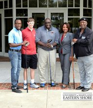Local businessman Carnelious Jones has made a half-million dollar pledge to the University of Maryland Eastern Shore (UMES) to support four full scholarships in the college's Professional Golfers' Association (PGA) golf management program in an effort to help diversify the game.