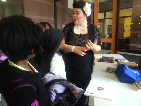 "Thomasina Petrus, who stars as Billie Holiday in the dramatic musical, ""Lady Day at Emerson's Bar & Grill,"" took time after the presentation at THEARC on Thursday, Feb. 20 to further enlighten students on the late jazz vocalist's life."