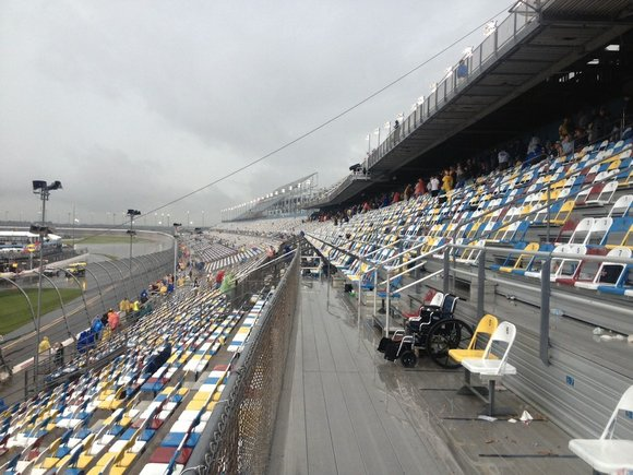Jeff Gordon, the pole sitter, and Jimmie Johnson are locked into the front row for next Sunday's Daytona 500 based ...