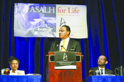Keynote speaker Freeman A. Hrabowski III addresses the audience at the 88th Annual Black History Luncheon at the Marriott Wardman Hotel in Northwest on Feb. 22.