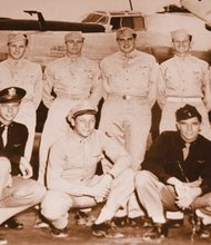 Portland resident Don Bachman (back row, second from left) was saved from certain death during a World War II battle with German fighter planes, because of the intervention of the historical 332nd Figthter Group, the all-black Air Force unit known as the Tuskegee Airmen.