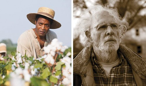 (left) Chiwetel Ejiofor stars as Solomon Northup in the film '12 Years a Slave,' one of the top films of 2013.   (right)Bruce Dern is a cantankerous old man who suddenly springs forth a fearsome determination in life in 'Nebraska,' the best film of 2013 as rated by our movie reviewer and Portland Observer columnist, Opinionated Judge Darleen Ortega.