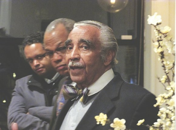 A reception for Rep. Charlie Rangel was held this week at the home of Craig and Modupe Robinson in Harlem.