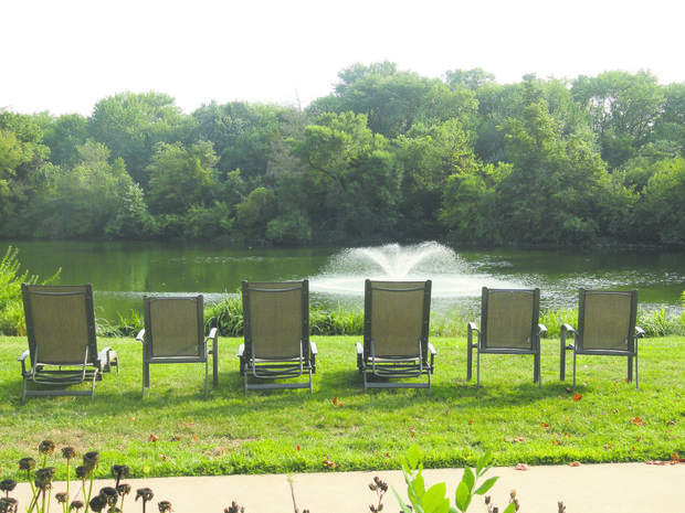 Guests spend a great deal of time overlooking the pond, just enjoying the natural ambiance