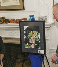 Jasmine Gilliam, a senior at Randallstown High School is one of three Baltimore County students to receive a Maryland Master Award on Monday, February 24, 2014 from Maryland Comptroller Peter Franchot at Greenwood Mansion.