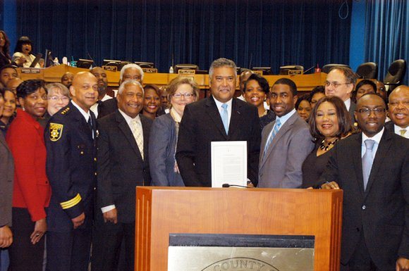 DeKalb Sheriff Thomas Brown bid an emotional farewell to longtime colleagues and county employees on Feb. 26 as the Board ...