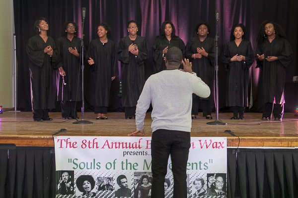 Washington Performing Arts Society's Children of the Gospel Choir perform during the Blacks in Wax program.