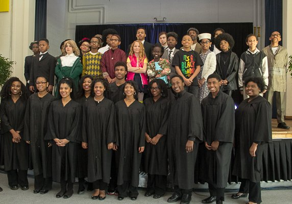 "The Washington Performing Arts Society's Children of the Gospel Choir with ""Souls of the Movements"" performers."