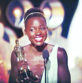 "Lupita Nyong'o said winning the Oscar for Actress in a Supporting Role based on her portrayal of ""Patsey"" in ""12 ..."