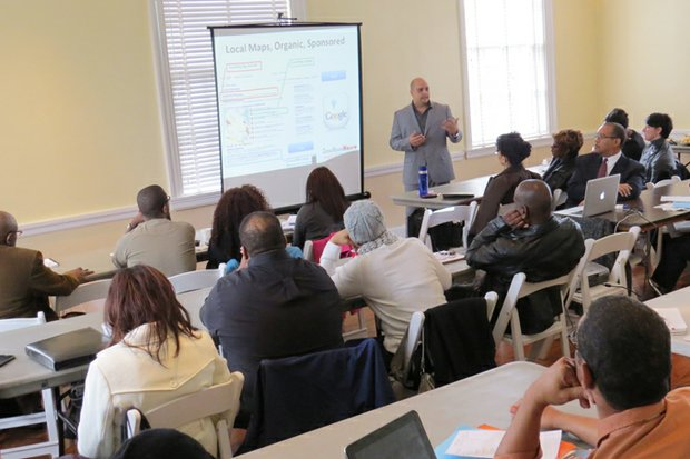 More than 30 business owners attended a digital marketing workshop sponsored by CrossRoadsNews at the Old Courthouse on the Square.