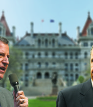 NYC Mayor Bill de Blasio and New York Gov. Andrew Cuomo