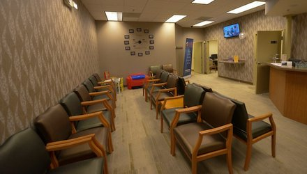 The waiting area of the Global Vision Community Health Center in Capitol Heights, Md., is seen here on Thursday, March 6, the day of the health center's grand opening.