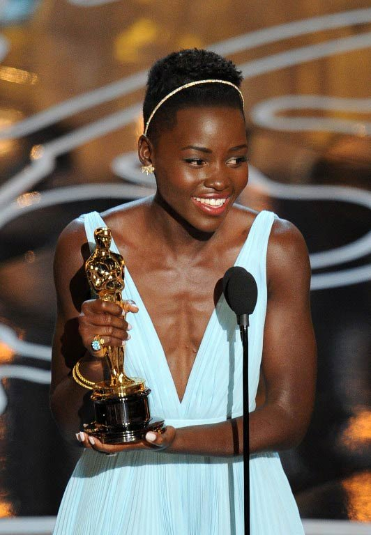 "Lupita Nyong'o won an Oscar for Best Supporting Actress for her role in the Hollywood feature ""12 Years a Slave."""