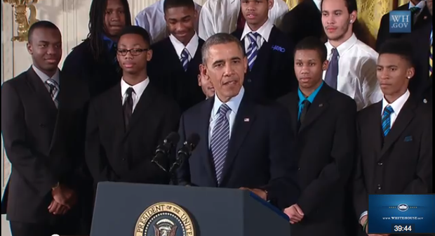 "President Barack Obama announced ""My Brother's Keeper"" initiative."