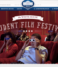 First annual Student Film Festival at the White House. 16 films were chosen from over 2,500 submitted.