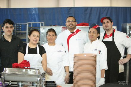 Lunch for the 2014 Romeoville State of the Village Address at Lewis University was prepared and served by staff from Sodexo Campus Services.