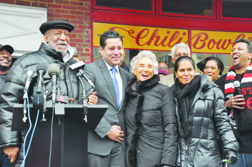 Bill Cosby joined the Ali family for the grand opening of the newest Ben's Chili Bowl location in Arlington, Va., on March 6.