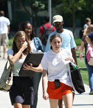 Students on the Georgia Tech Campus.