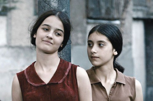 "Mariam Bokeria (left) and Lika Babluani star in ""In Bloom."""