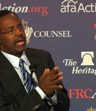 Ben Carson, a renowned neurosurgeon and a popular figure among conservatives.
