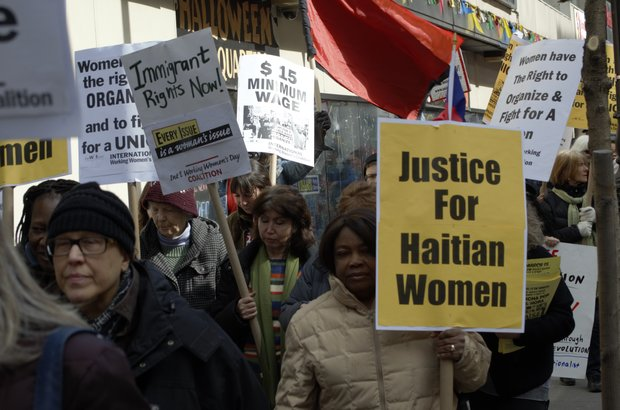 Groups march for $15/hour on International Women's Day