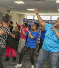 """West Baltimore CARE held West Baltimore's Biggest Line Dancing Party demonstrating that """"being healthy doesn't have to be hard. Line dancing is an example— it's a fun activity that is great for your heart."""""""