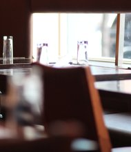 Photo of Moca restaurant in Harlem by Bryant Buerent.